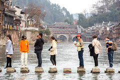Crossing the river ~ Fenghuang ancient town
