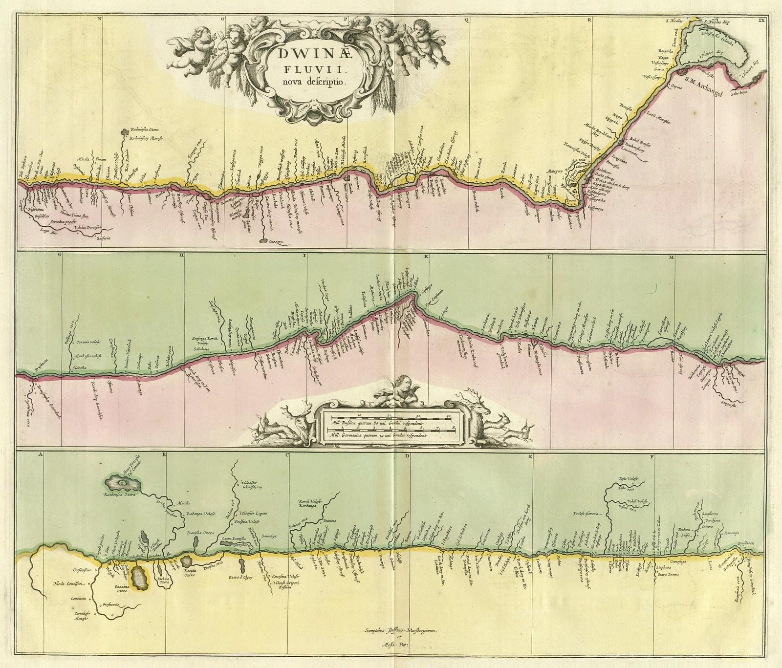 1680. Карта Двины