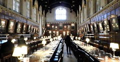 Dining Room in Oxford University, Oxford, England