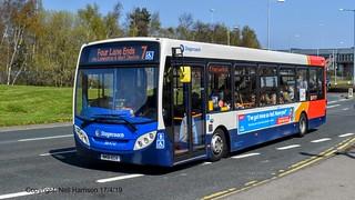 Stagecoach North East 36470, a 2012 Alexander Dennis E20D, reg no NK61ECV