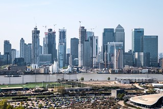 Canary Wharf under construction | by Greenwich Peninsula