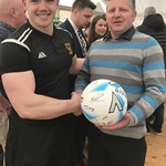 Craig Reid with Match Ball Sponsor Stewart Connon