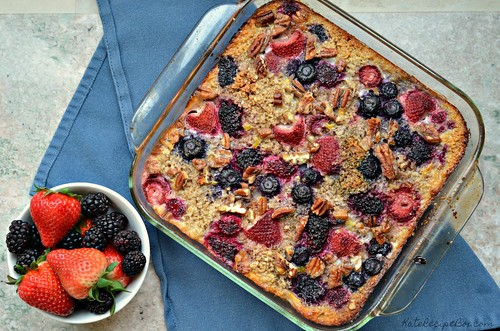 Baked Berry Oatmeal 1 | by katesrecipebox