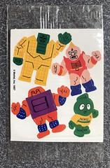 Rare 1987 Mattel M.U.S.C.L.E. Canadian Cereal Box Premium Stickers