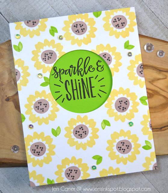 Jen Carter CP Be Wild Sunflower Sparkle Shine