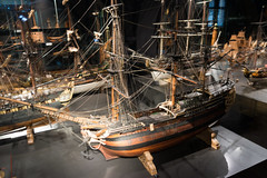 Model of an old sailing vessel