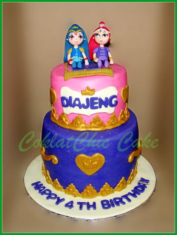 Cake Shimmer & Shine DIAJENG 18/12 cm