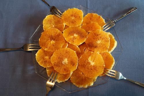 typisch marokkanisches Dessert: Orangen mit Zimt