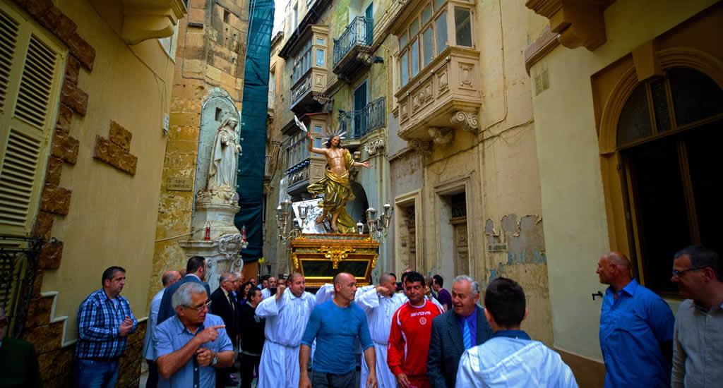Pasen op Malta, processies