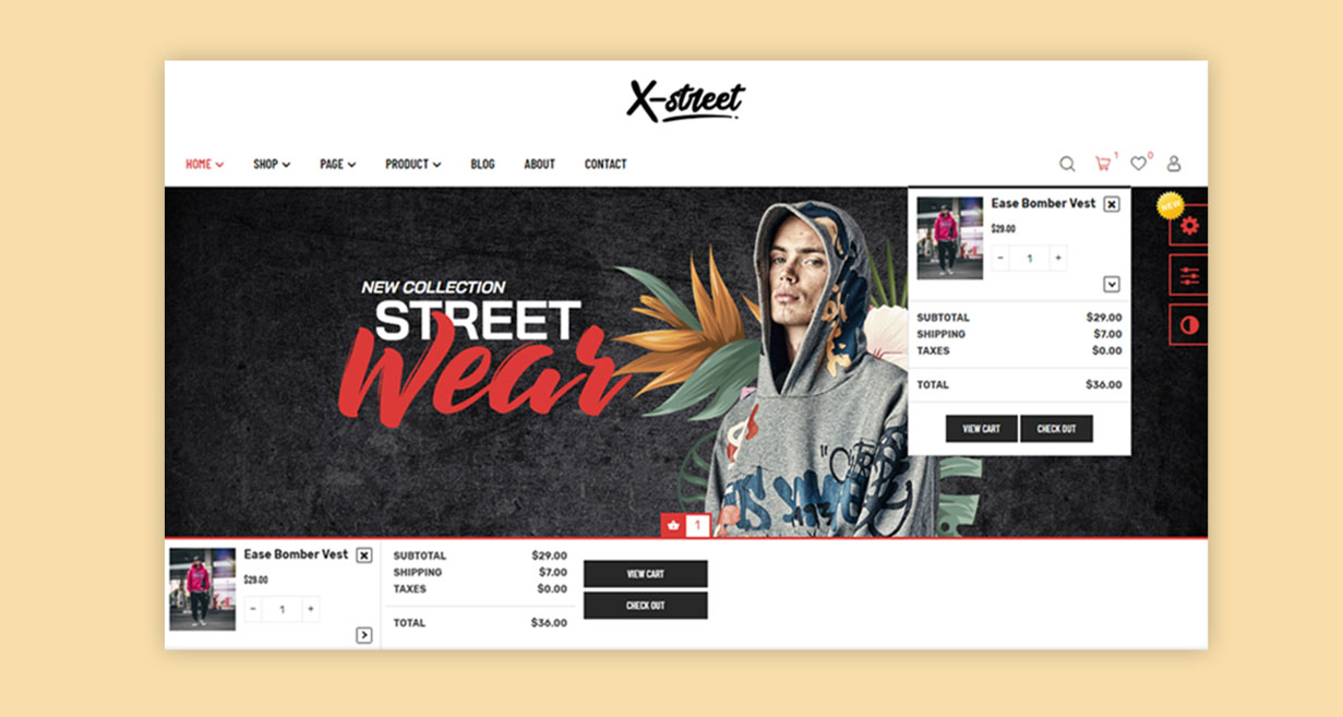 6.ajax-cart-Xstreet-street-style-fashion-prestashop-theme