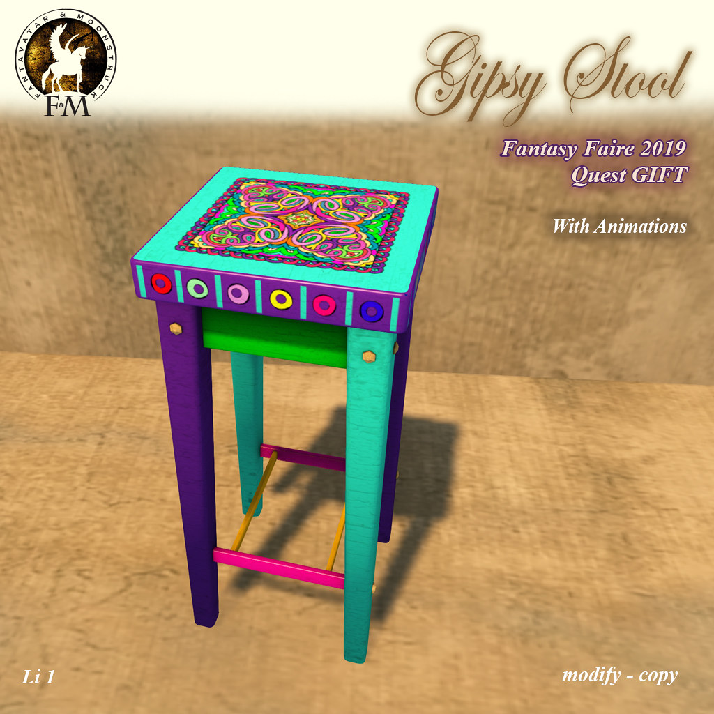 Fantasy Faire 2019 Quest GIFT – F&M Gipsy Stool