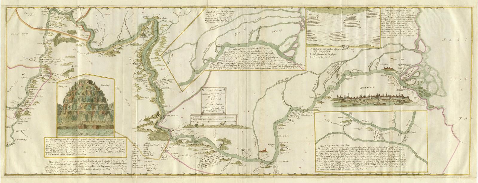 1640. Точное описание благородной реки Европы Волги. Адам Олеарий