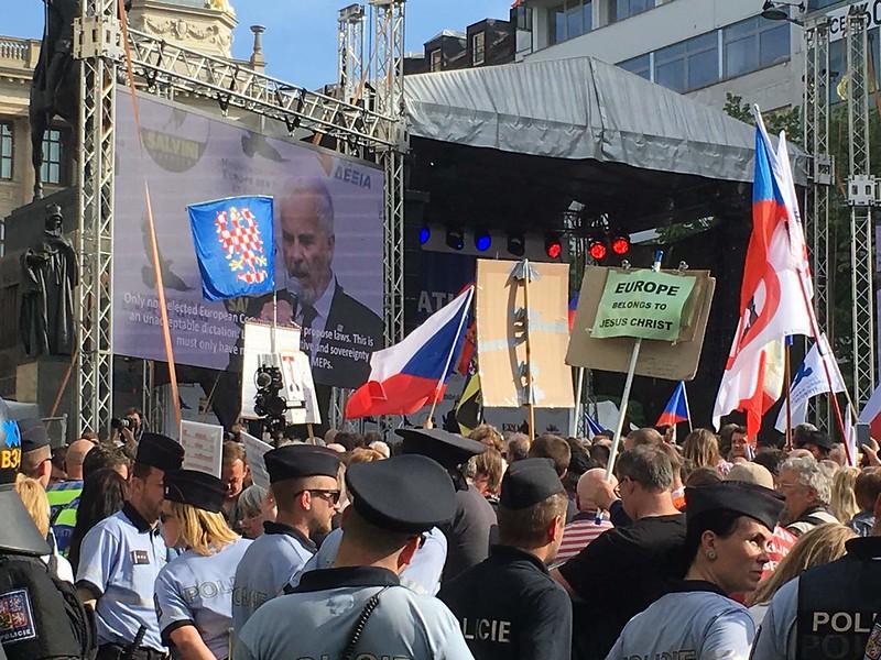 Szuverén Nemzetek Európája tüntetés, Prága, 2019.04.25.