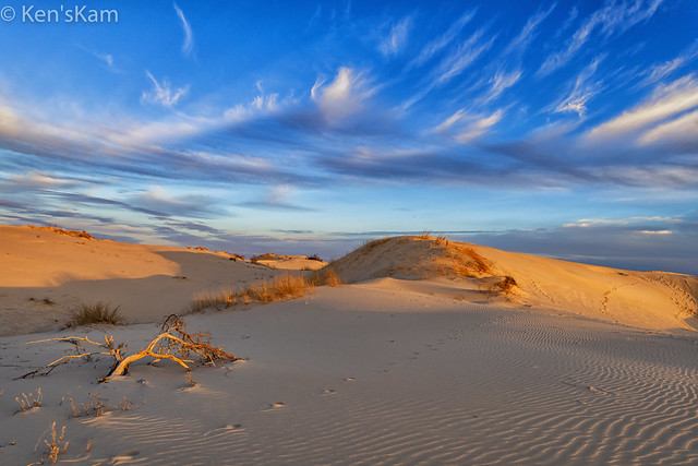 Late Day Sky and Sand Dunes