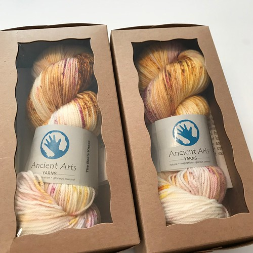 For LYS Day 2019, we have kits from Ancient Arts that include a full skein of the limited edition colourway The Bees Knees and a copy of the Orenburg Shawl by Caroline Sommerfield! So beautiful knit up!