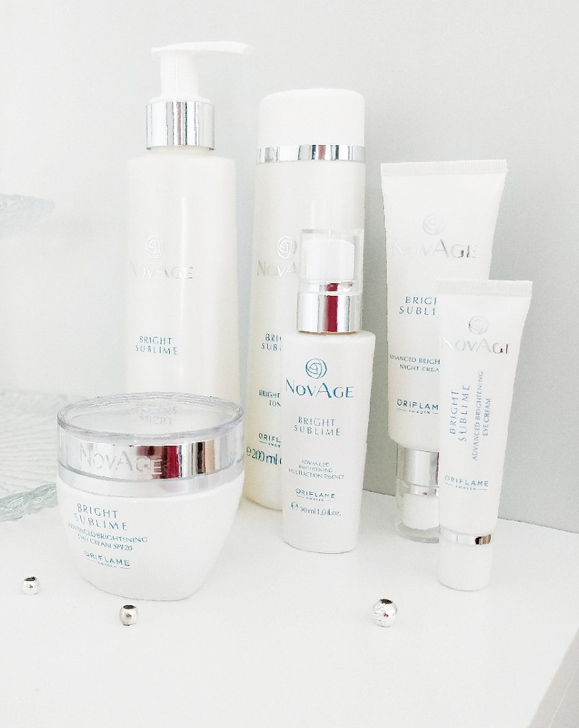 ORIFLAME NOVAGE BRIGT SUBLIME SKINCARE ROUTINE