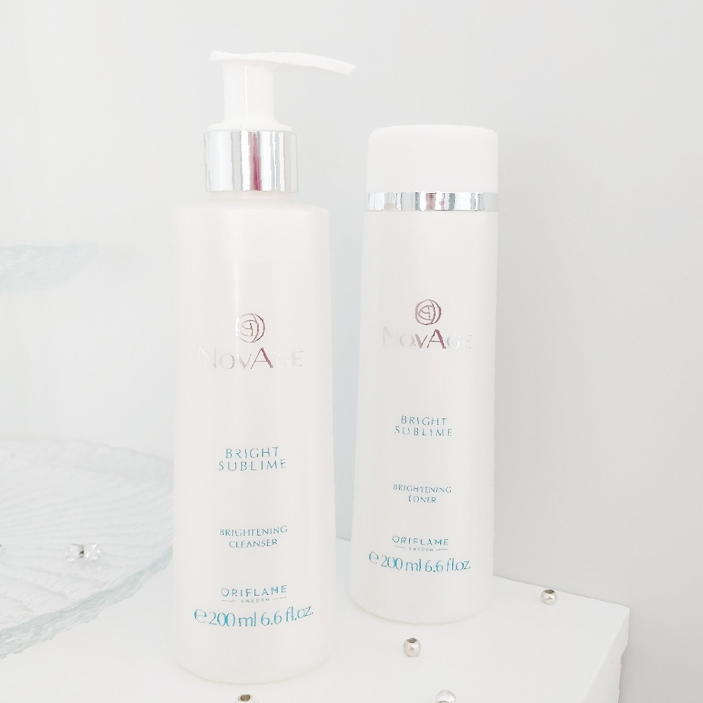 ORIFLAME NOVAGE BRIGHT SUBLIME CLEANSING GEL AND TONER