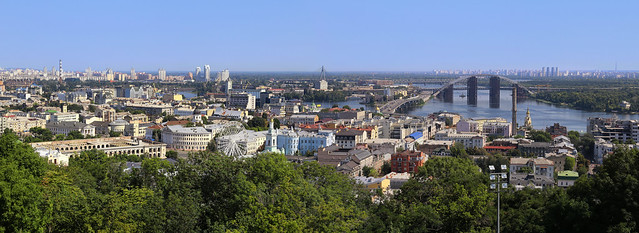 A delight to seek out these panoramic viewing platforms in Kiev