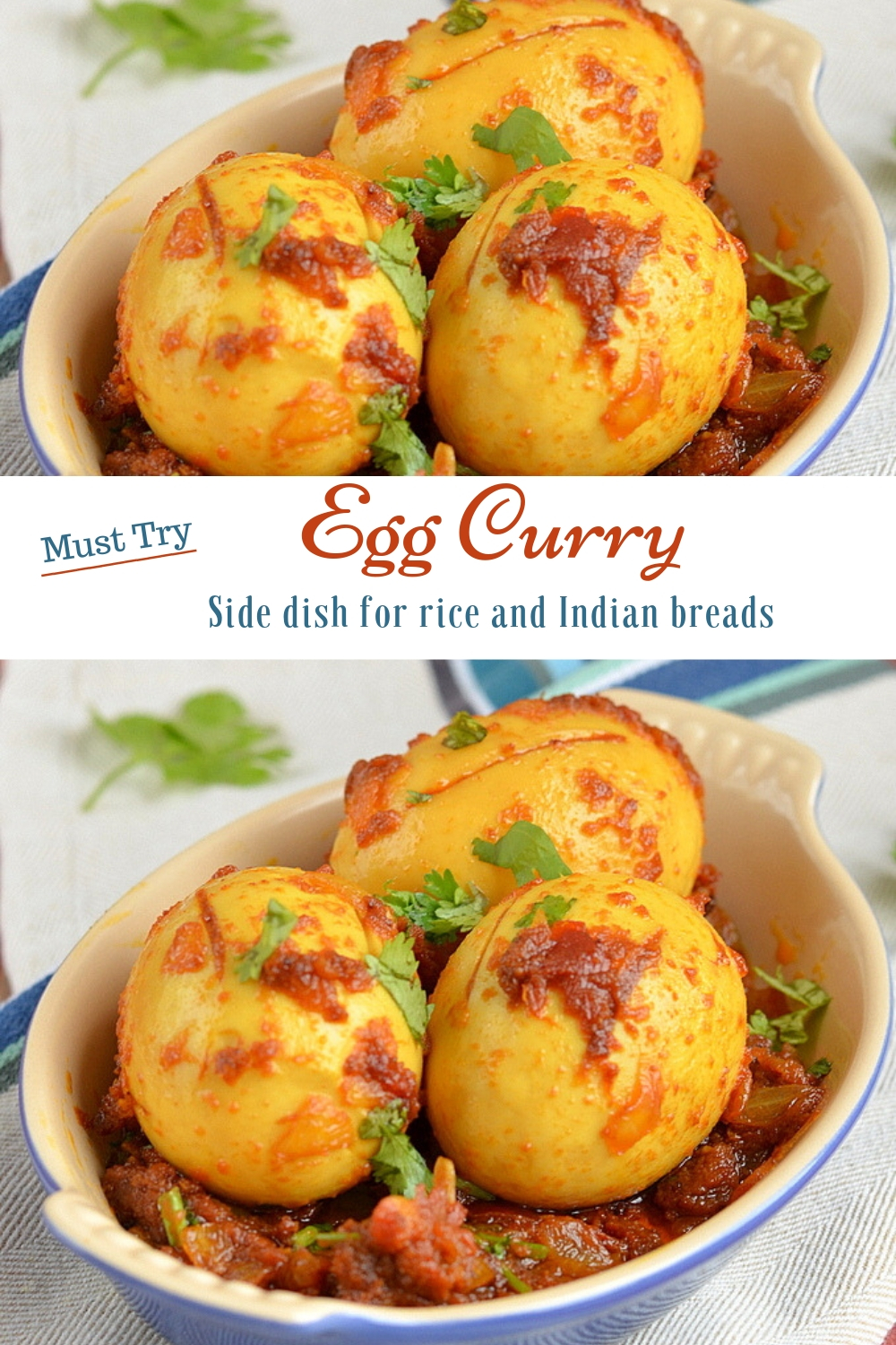 Boiled eggs curry