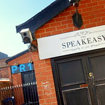 New Speakeasy bar sign on Fylde Road, Preston