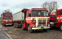ergomammoth posted a photo:Just up the A446 from Freeman's yard near the Belfry Golf Course, was Paul A Archers, where in the 1980s he was firmly into his Fodens. S83 artic CSC75S with tipping trailer is seen here. It must have had an up-rated Gardner diesel as the badge says Gardner 280. I always thought this was a dangerous location on a very fast road, which made it not only difficult for photography, but must have been hair raising for his drivers as well pulling away in those plodding old Gardners in the mornings. He is no longer there now of course having moved to Tamworth.