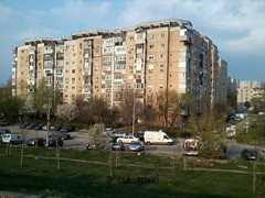 Apartment building in Crângași district of Bucharest - lo fi with 2 mpx camera of Samsung Galaxy Y