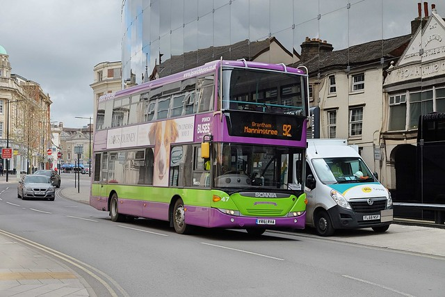Ipswich Buses Ex-Metroline (formerly First Centrewest) Scania CN230UD OmniCity 47 YR61RYA