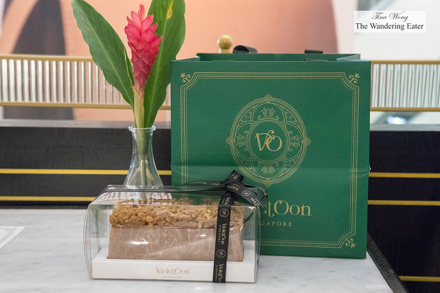 Bag of treats and Gula Melaka Cashew cake