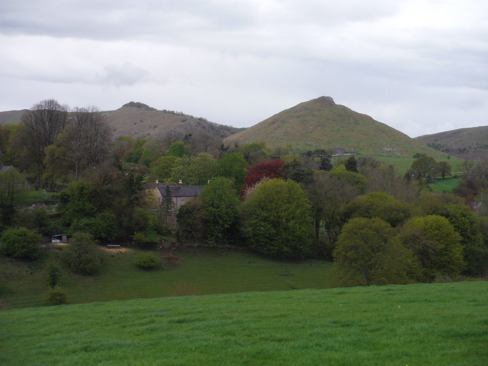 Thorpe, Thorpe Cloud and Bunster Hill, from near Broadlowash SWC Walk 326 - Dovedale (Ashbourne Circular)
