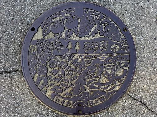 Isawa Yamanashi, manhole cover (山梨県石和町のマンホール)