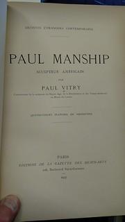 Paul manship book title page