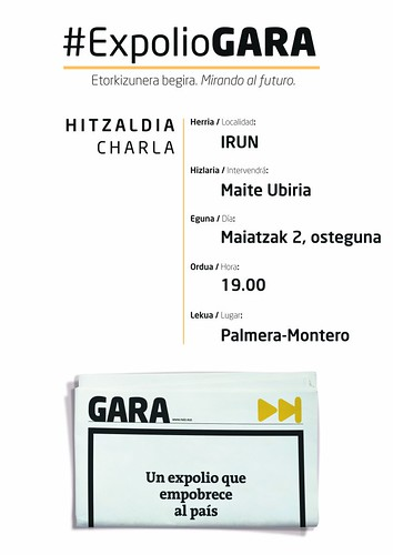 Carteles #ExpolioGARA en Irun