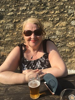 Dot outside the Botolph Arms