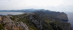 Formentor (Mallorca-España). Vista panorámica desde  la Talaia d´Albercutx