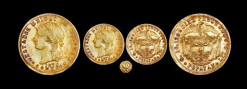 1870 Popayan, Colombia, 10 pesos