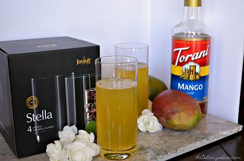 Mango Lemonade Cocktail 2 | by katesrecipebox