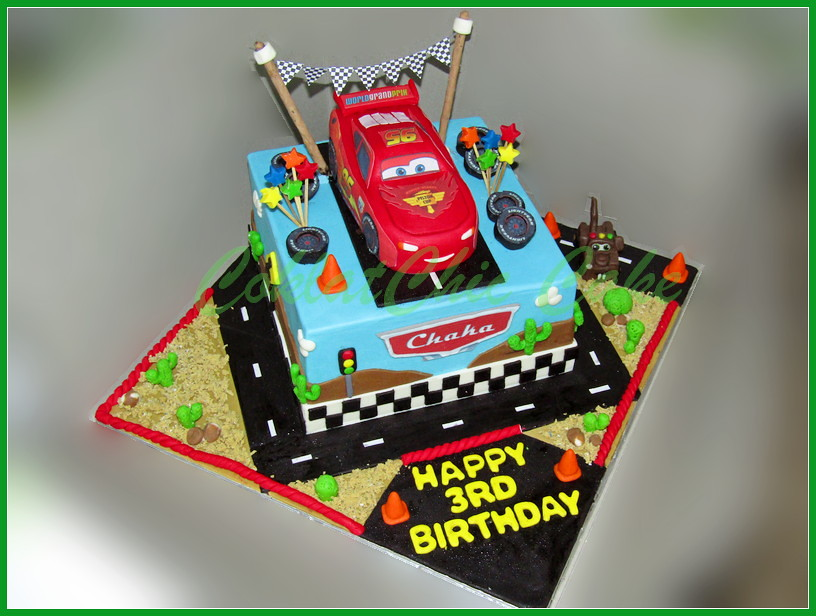 Cake Mcqueen Cars Chake 20 cm +