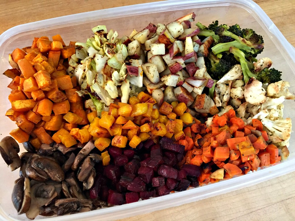 leftover roasted vegetables