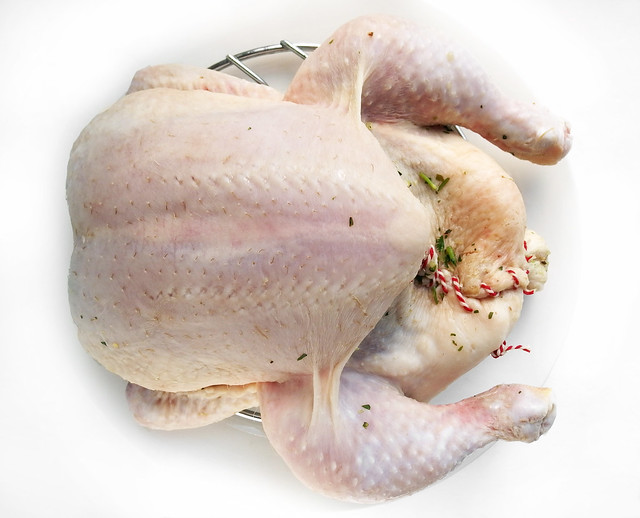 Gepekelde kip eerst laten drogen