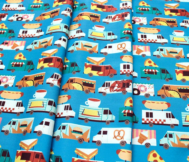 Paintbrush Studio Fabrics Food Trucks 120-209381 Food Truck Stripes Blue