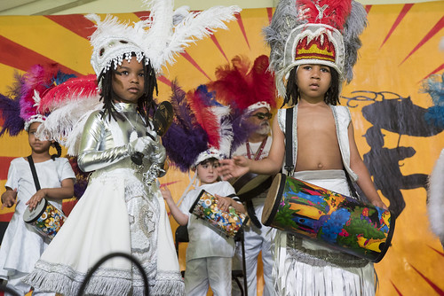 Young Guardian s of the Flame at the Kids Tent during Jazz Fest day 3 on April 27, 2019. Photo by Ryan Hodgson-Rigsbee RHRphoto.com