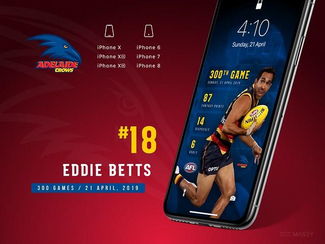 Eddie Betts 300 Games (Adelaide Crows) iPhone Wallpaper