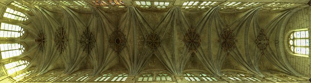 Auxerre, ehem. Klosterkirche Saint-Pierre, Gewölbe