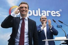Pablo Casado en un Mitin en Tarragona