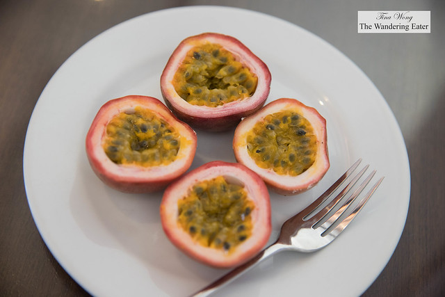 My plate of fresh passion fruit