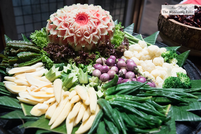 Raw Thai vegetables