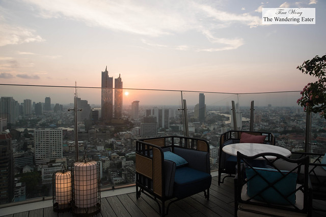 Sunset views at Yao Rooftop Bar