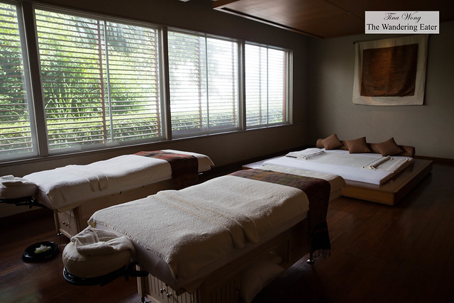 Deluxe spa treatment room for two people at Chi