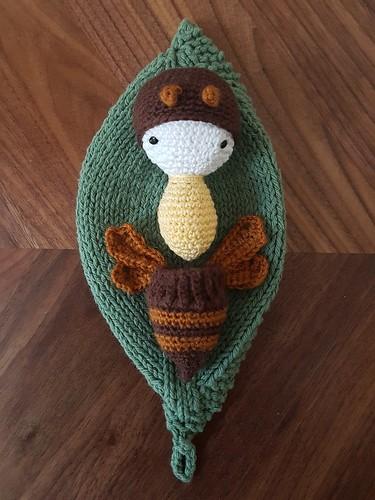 Crochet Honey Bee and Larvae