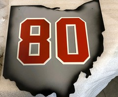 Ohio State Waterjet and Powder coated wall art